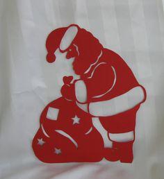 Der Nikolaus als Scherenschnitt-Motiv