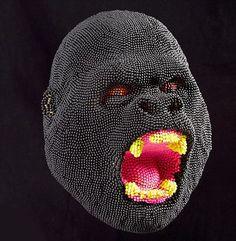David Mach match head sculpture