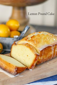 Lemon Pound Cake w/ Essential Oils
