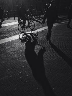 Shadows #bike #amsterdam #cycling #bw #shadows #street #travel