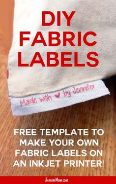 DIY Fabric Labels | Twill Tags | Inkjet Printer Tags | Brag Tags