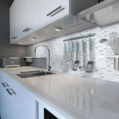 Jeffrey Court Valor Moon 11 in. x 12 in. Glass/White Marble Mosaic Wall Tile-99467 at The Home Depot