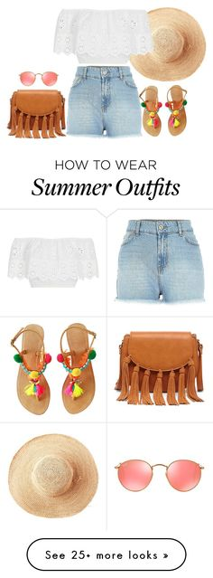 """""""Summer Outfit"""" by mayalexia on Polyvore featuring Toast, Miguelina, Sole Society and Ray-Ban"""