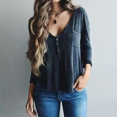 Clothes outfit for woman * teens * dates * stylish * casual * fall * spring * winter * classic * casual * fun * cute* sparkle * summer Mode Outfits, Fall Outfits, Fashion Outfits, Womens Fashion, Sexy Casual Outfits, Ladies Fashion, Outfits 2016, Fashion Hair, Women's Casual