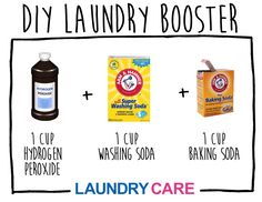 DIY Laundry Booster - Mix these 3 ingredients for a simple, homemade laundry booster, comparable to OXICLEAN!