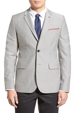 Ted Baker London 'Big Band' Modern Trim Fit Print Cotton Blazer available at #Nordstrom