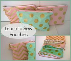 Learn to Sew Pouches   Craftsy