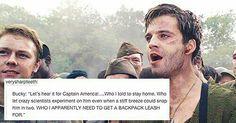 Bucky Barnes. Captain America. Sebastian Stan.