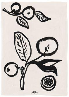 The artist Magique Lemons features a delicate painterly Matisse-style lemon branch drawing against a pale rose pink backdrop. This Art Print is Flowers Wallpaper, Poster Photo, Lemon Art, Art Watercolor, Art Prints For Sale, Art Inspo, Line Art, Collages, Illustration Art