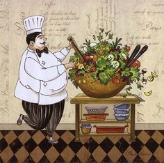 A salad should be interesting: art by Pamela Gladding...