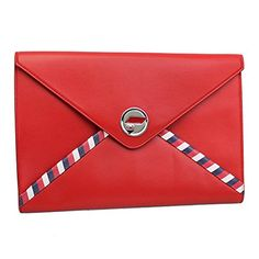 1161b738f904 SALE PRICE -  1890 - 2016  Ss Chanel Airlines Red Leather Pouch A82434  Y25399 2B425