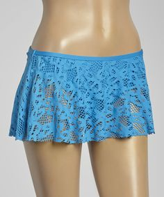 7ea2a33c0e Azul Island Fever Skirted Bikini Bottoms - Women  zulily  zulilyfinds  Bikini Bottoms
