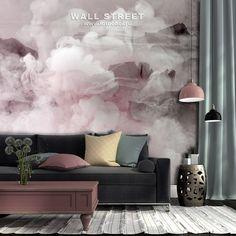 Фотообои Туманный рассвет в горах 18684 Interior Design, Interior Ideas, Tapestry, Wallpaper, Pink, Home Decor, Mood, Abstract Art, Nest Design
