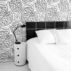 @kiitosmarimekko: Marimekko Bottna Wallpaper. Available at http://kiitosmarimekko.com/products/bottna-wallpaper-black-white