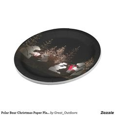 Polar Bear Christmas Paper Plates