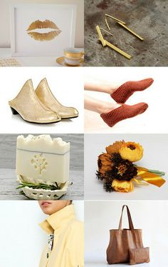 Gold kiss  by anat on Etsy--Pinned with TreasuryPin.com