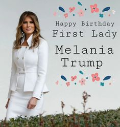 Happy Birthday - - to the beautiful Melania Trump! She is pictured here at the White House on February 🎉 Donald And Melania Trump, First Lady Melania Trump, Donald Trump, Malania Trump, Pro Trump, Melania Trump Birthday, Milania Trump Style, Inauguration 2017, Conservative Memes