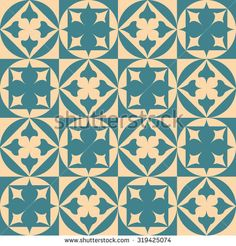 Seamless pattern of geometric shapes and flowers. Circles and squares. Geometric background. Copy that square to the side, the resulting image can be repeated, or tiled, without visible seams.