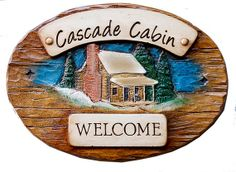 Custom Rustic Cabin Sign with your name, address or date