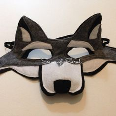 Les enfants en feutre gris loup masque fait à par SeaminglySarah