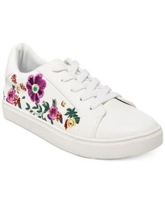 22a10eb0040 Betsey Johnson Maya Embroidered Sneakers - White Betsey Johnson