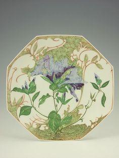 "Rozenburg, Den Haag, ""Eggshell"" Porcelain vase, painted by Sam Schellink, 1914."