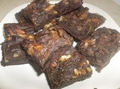 Chocolate caramel turtle brownies, gluten free dairy free recipe