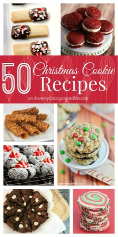50 Christmas Cookie Recipes on {i love} my disorganized life