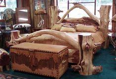 images of rustic cowboy bedroom furniture | Texas True: Western Furniture & Decor, Rustic Log Furniture, Cowboy ...