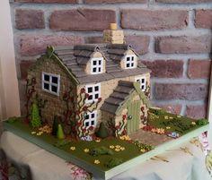 Beautiful house cake, by Katie Hawksworth