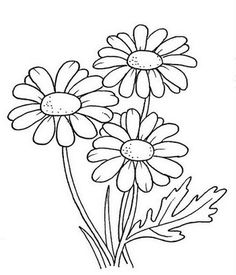 daisy flower coloring pages. Daisy is one favorite flower that is usually combined in a hand bouquet. This flower does not have the charm as strong as roses, but the beauty of dai. Hand Embroidery Patterns Free, Applique Patterns, Flower Patterns, Print Patterns, Painting Patterns, Flower Coloring Pages, Coloring Pages For Kids, Coloring Books, Mandala Coloring