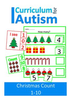 Christmas Counting to 10 Clip Cards (Count, I see, How Many?) + Write & Wipe Sheets, for students with autism and special needs.This Easy Prep set contains:30 clip cards5 Write & Wipe pages (laminate or put in a page protector)You might also like: Christmas Countdown Chart & Sensory Overload PosterVehicles Count to 20 Clip CardsFor more Seasonal activities CLICK HERE**More Christmas products coming soon!** Be the first to know about my new product launches.