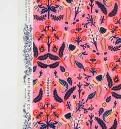 Tapestry (Rose) Screen Printed Cotton Fabric