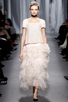 Chanel Spring 2011 HC Pink Tiered Tulle Skirt Profile Photo
