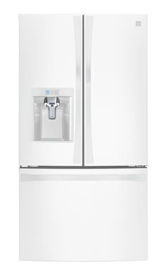 Kenmore Smart 4675042 24 cu. ft. Counter Depth French Door Bottom Freezer Refrigerator in White - Works with Amazon Alexa, includes delivery and hookup (Available in select cities only)