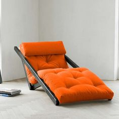 I want this in denim in front of my fire place.  Figo Orange Wenge, $499, now featured on Fab.