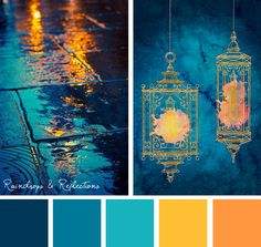 Sometimes, the obvious color choice is the right one. Let your embroidery designs glow with this Raindrops & Reflections color inspiration.