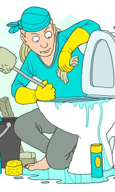 WC-istuimen puhdistus | Meillä kotona Bart Simpson, Fictional Characters, Cleaning, Tips, Advice, Fantasy Characters