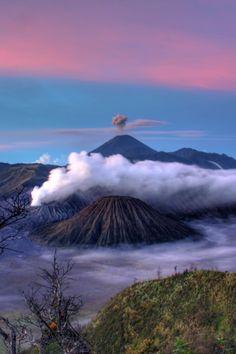 crater, desktop backgrounds, fog