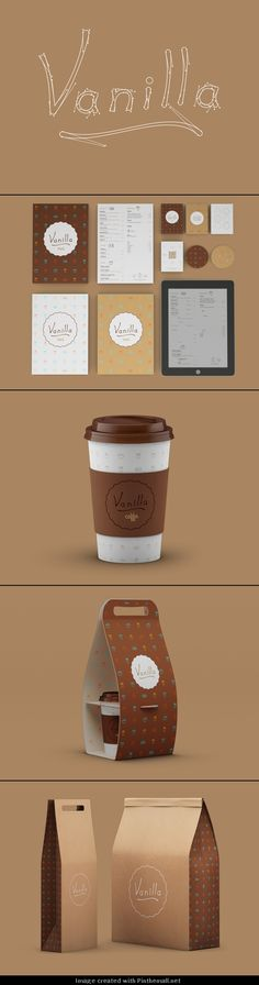 Vanilla Caffe. What can you do with vanilla #identity #packaging #branding PD