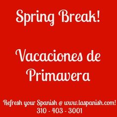 """This Spring break 2013, take action and refresh your Spanish lang skills with LA Spanish Language School!  Call Dalila now @ (310) 403-3001   Ms. Miranda has a broad experience with students of all of the Colleges and schools listed below. She has been helping students of Spanish language for over 15 years and her teaching style and expertise allows her to address your needs is straight to the point!    """"Most of the time my students need only one hour ... read more…"""
