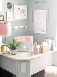 My small home office space sparks JOY, and I love giving this tiny spot a good refresh every few months. continues to impress me… Decor, Home Office Decor, Room Ideas Bedroom, Room Design, Interior, Home Decor, Cute Room Decor, Work Office Decor, Girl Bedroom Decor