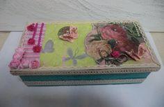 Caixa decorada 32x17cm - Vadita Decor, produtos de decoração