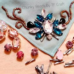 Chunky Beads by TF Craft for shawl. Crystal Embroidery, Hand Embroidery Art, Embroidery Designs, Bead Sewing, Moroccan Dress, Chunky Beads, Fabric Manipulation, Beaded Lace, Diy Jewelry
