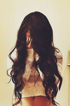 Chocolate Brown hair because this is so my style. So down with blonde highlights