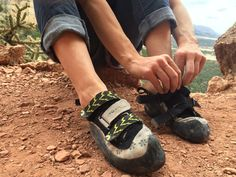La Sportiva's VS Vibram XS climbing shoes: grippy and good-looking.