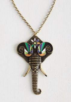 This striking necklace — $19.99 | 23 Stylishly Clever Ways To Cover Your Body In Elephants