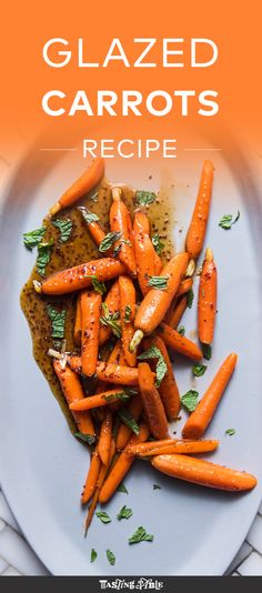 Watch and learn how to make the easiest maple-glazed carrots with mustard and mint.