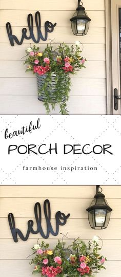 feather and birch shop etsy these words are perfect for your porch kitchen living room or your mantel stained painted or unfinished for a wonderful look gorgeous signs perfect for any home - The world's most private search engine House With Porch, House Front, Farmhouse Style, Farmhouse Decor, Rustic Style, Decks And Porches, Front Porches, Diy Front Porch Ideas, Front Porch Flowers