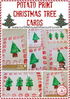 Christmas Tree Card Ideas For Kids